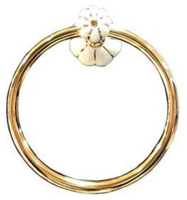 luxusní držák na ručník kruh NISA GOLD s potahem 24 kt zlata