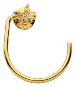 luxusní držák na ručník kruh PAPILLON GOLD s potahem 24 kt zlata