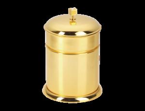 luxusní koš TRIA GOLD s potahem 24 kt zlata, krystaly