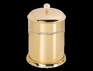 luxusní koš ALMARA GOLD s potahem 24 kt zlata, krystaly