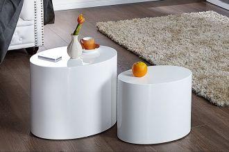 2SET odkládací stolek DIVISION bílý, II. jakost