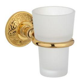 luxusní držák na kartáčky BLOSSOM GOLD s potahem 24 kt zlata