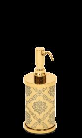 luxusní dávkovač mýdla DESENLI GOLD s potahem 24 kt zlata