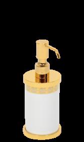 luxusní dávkovač mýdla PORCELAINE GOLD s potahem 24 kt zlata