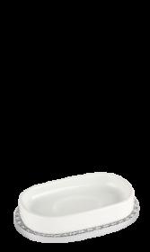 luxusní miska na mýdlo PORCELAINE PLATINA