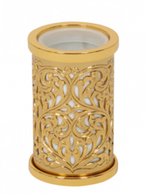 luxusní kelímek na kartáčky CONCHIGLIA GOLD s potahem 24 kt zlata
