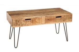 Konferenční stolek MANTIS NATUR II 100 CM masiv mango, II. jakost