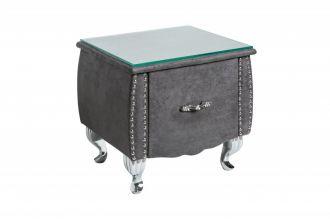 Noční stolek BAROCCO antik šedá