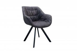 Židlo-křeslo DUTCH COMFORT antik šedé mikrovlákno - rozbaleno