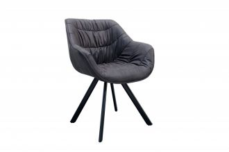 Židlo-křeslo COMFORT ANTIK DARK GREY - rozbaleno