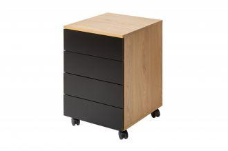 Kontejner do kanceláře STUDIO dubový vzhled - rozbaleno