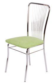 Židle čalouněná LAURA chromová