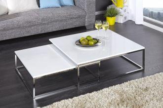 2SET konferenční stolek NEW ELEMENTS bílý, II. jakost