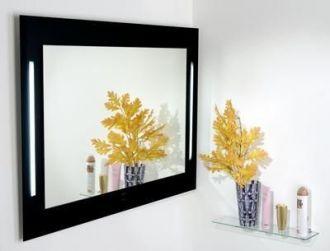 luxusní zrcadlo PHAROS BLACK 110/80 s osvětlením s dotykovým senzorem
