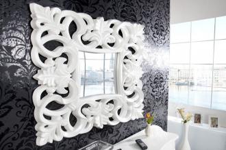 luxusní zrcadlo VENICE WHITE 75/75-W