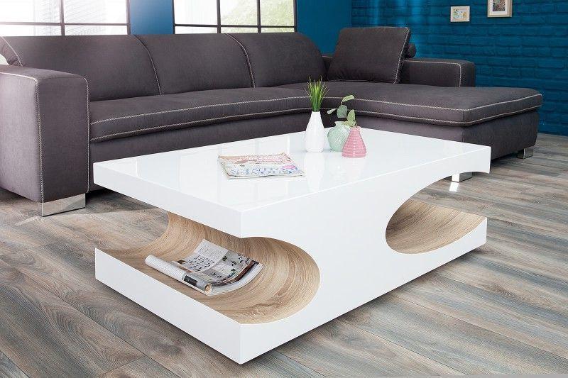 Konferenční Stolek Cube White Sonoma Defleecz