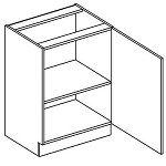 Dolní kuchyňská skříňka jednodvéřová