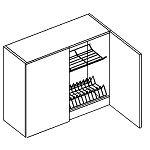 Horní kuchyňská skříňka s odkapávačem