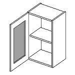 Horní kuchyňská vitrína jednodvéřová