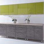 Kuchyně COSTA OLIVA dekor sonoma-zelená