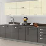 Kuchyně KARMEN - dekory: šedokrémová, celošedá nebo celokrémová