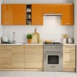 Kuchyně LENA dekor oranžová-sonoma