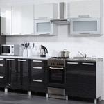 Kuchyně MERLIN dekor černá-bílá